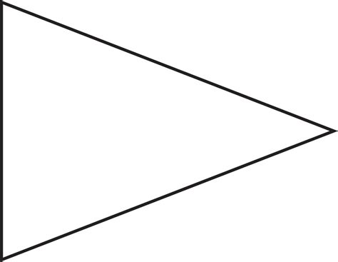 pin triangle flag outline clip art vector  royalty