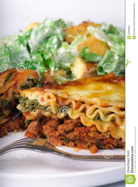 what to make with lasagna for dinner lasagna dinner stock photography image 23356892