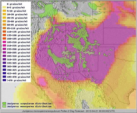 allergy map nasa marshall may 8 2013 edition