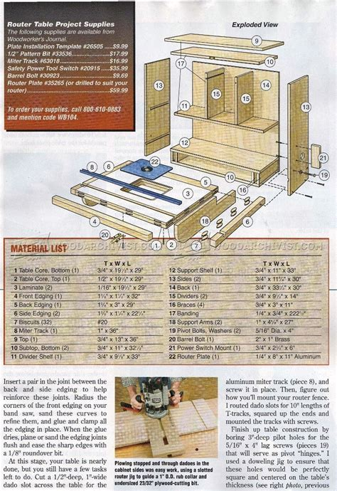 wall mounted router table plans woodarchivist