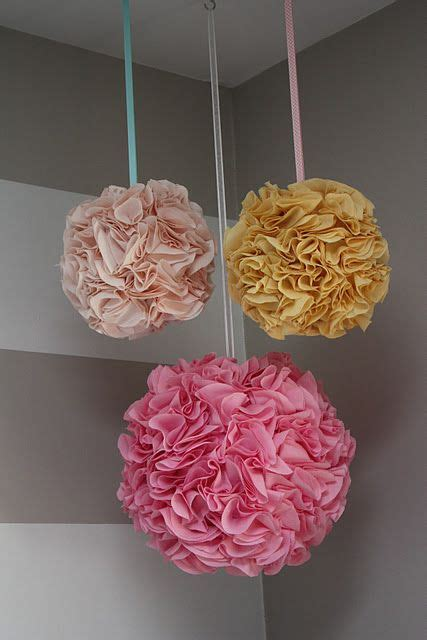 How To Make Hanging Paper Flowers - 25 best ideas about hanging pom poms on