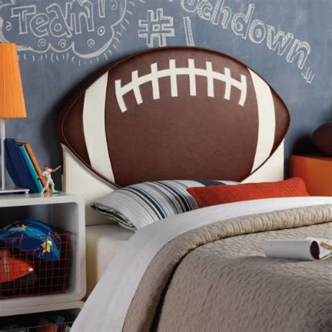 Football Headboard powell furniture 888 039 upholstered football