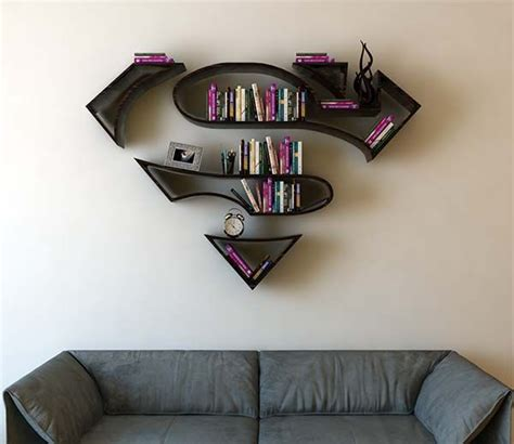 estante superman the concept bookshelf inspired by superman s logo en 2019
