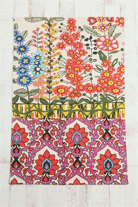 Outfitters Floral Rug by Indoor Flower Garden 3x5 Floral Stripe Printed Rug
