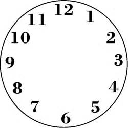 blank clock template blank clock templates for teaching time clipart best
