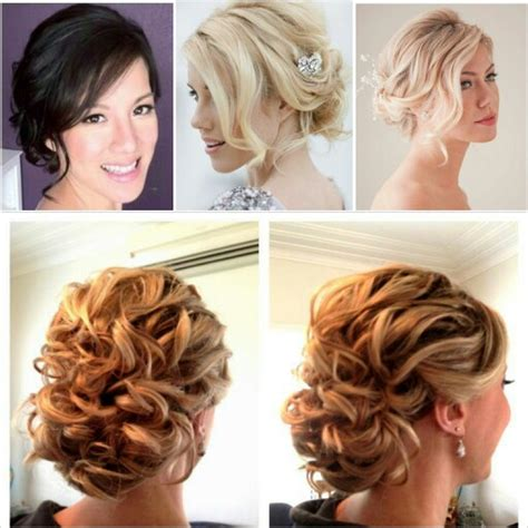 side swipe updo hairstyles soft updo with side swept fringe hair styles pinterest