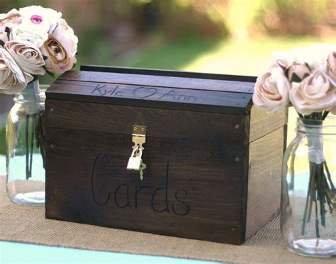 Wedding Card Lock Box by Rustic Woodland Summer Fall Or Winter Large By Braggingbags