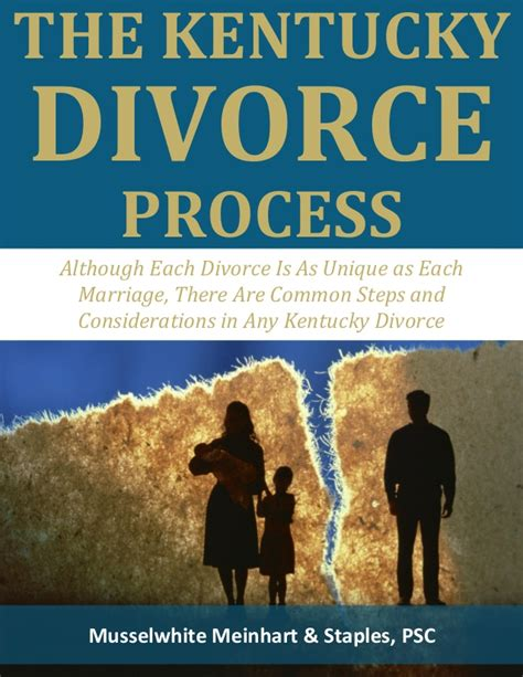 how to get a divorce in ky the kentucky divorce process