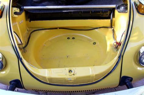 volkswagen super beetle convertible  yellow wblack top  tweed interior classic