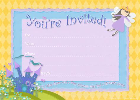 Happy Birthday Princess Card Template by Free Birthday Invitations Bagvania Free Printable