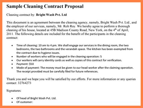 proposal format cleaning services 6 cleaning services proposal sle bussines proposal 2017