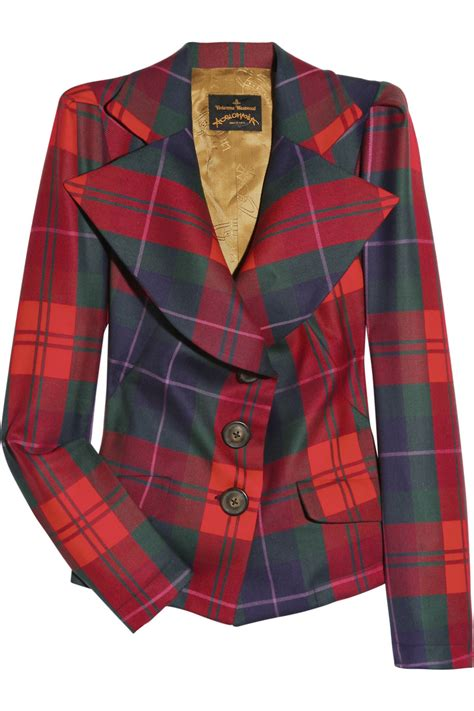 Be Tartan And Plaid Pretty In This Vivienne Westwood Dress by Lyst Vivienne Westwood Anglomania Wool Tartan Blazer In