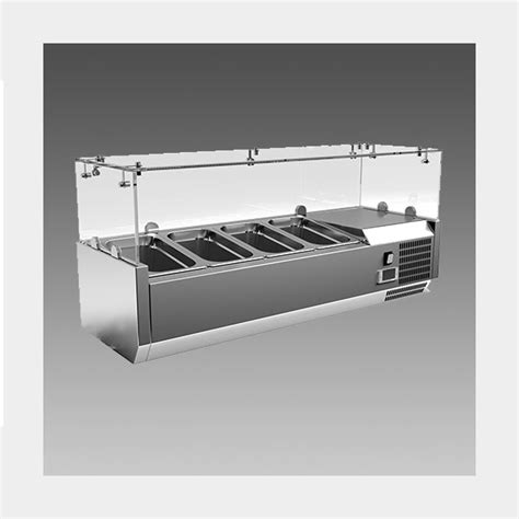 countertop prep cooler oliver 40 commercial countertop w glass sneeze guard