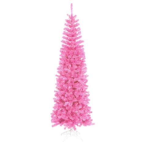 6 5 Pre Lit Hot Pink Tinsel Christmas Tree Pink Lights Ebay Pink Tree Lights