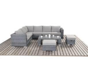 Cushions For Brown Sofa Port Royal Platinum Grey Large Corner Sofa Rattan Garden