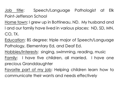 exle debutante biography speech therapy staff 187 southeast area cooperative