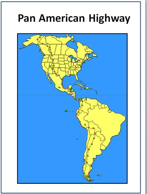 map of the pan american highway how did the pope get to the end of the pan american