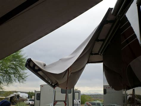 Replacing Awning Fabric by Our Two Month Winter Jaunt In Fort Mcdowell Az Outside