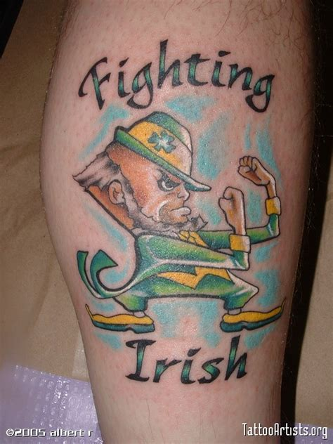fighting irish tattoos designs fighting artists org