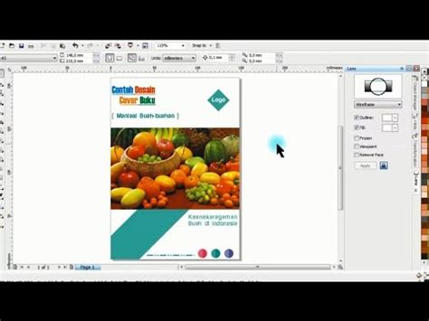 tutorial desain cover buku contoh membuat desain cover buku di coreldraw belajar