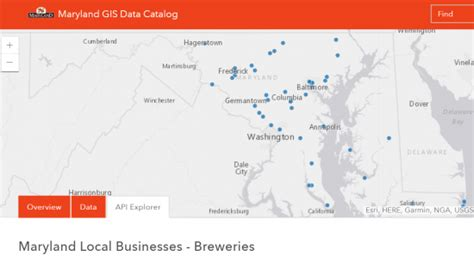 maryland breweries map interactive breweries map care of maryland gis open data