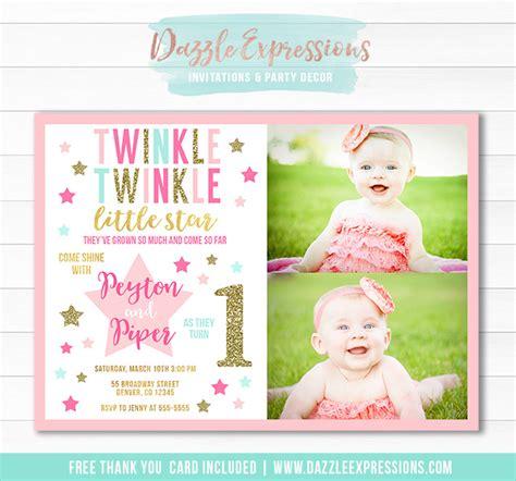 twinkle twinkle card template invitation templates twinkle invitations