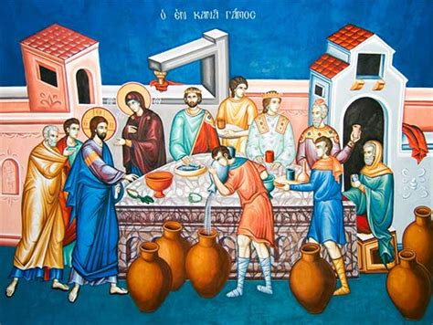 Wedding Feast At Cana Epiphany by Feast Of Theophany