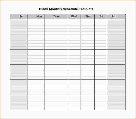 blank schedule template sun sat weekly schedule template