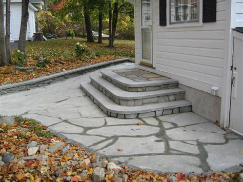 Patio Steps Design Bluestone Patio Step Design Averill Park Ny Landscape