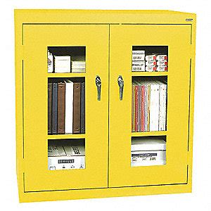 Yellow Metal Storage Cabinet Sandusky Storage Cabinet Steel Clearview Yellow 45mp96 Ea2v461842 Ey Grainger