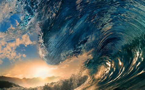 wallpaper 4k wave waves sunlight surfing tropical paradise ocean sea