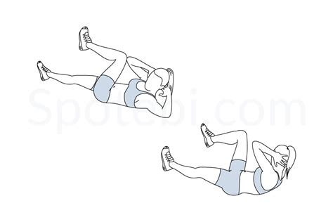 bicycle crunches illustrated exercise guide