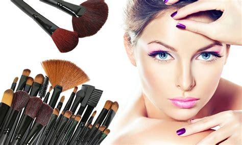 professional makeup brush set with case 32 piece groupon