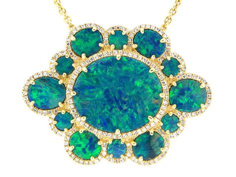 Wst 11021 Chain Necklace Black dilamani jewelry black opal pendant necklace