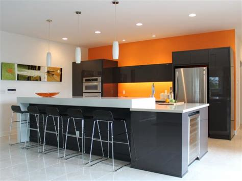 orange paint colors  kitchens pictures ideas  hgtv hgtv