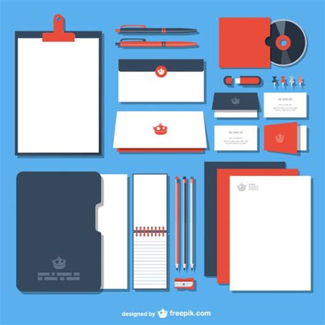 corporate identity pack vector free download
