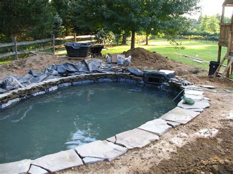 backyard pond construction koi pond construction backyard pond and waterfall