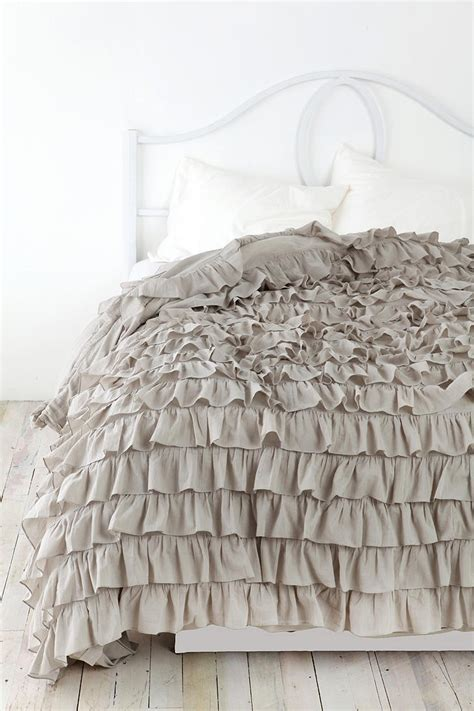waterfall bedding waterfall ruffle duvet cover urban outfitters grey and