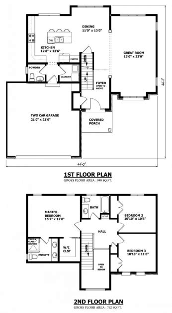 floor plans and elevations of residential storey