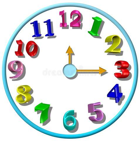 clipart orologio orologio dei bambini 3d illustrazione di stock