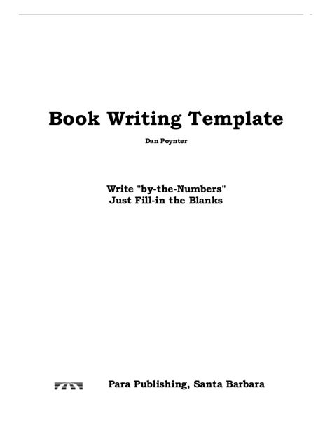 writing book template p 47 wn book writing layout template