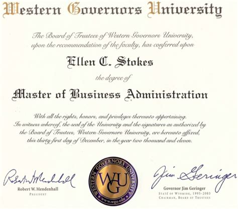 What Is Mba Diploma by Wgu Mba Diploma