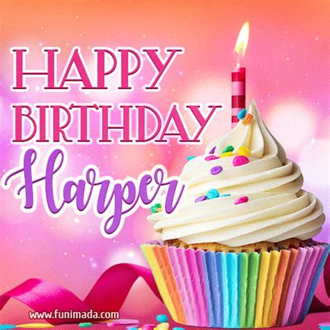 happy birthday harper lovely animated gif   funimadacom
