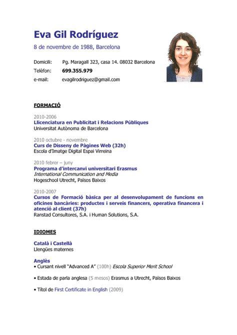 Modelo Curricular Global Curriculum Vitae Como Llenar Un Curriculum Vitae