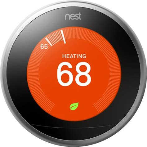 Nest Learning Thermostat   3rd Generation Silver T3007ES   Best Buy