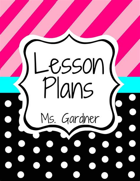 Printable Lesson Plan Binder Cover | mommy teacher so much more monday made it 2