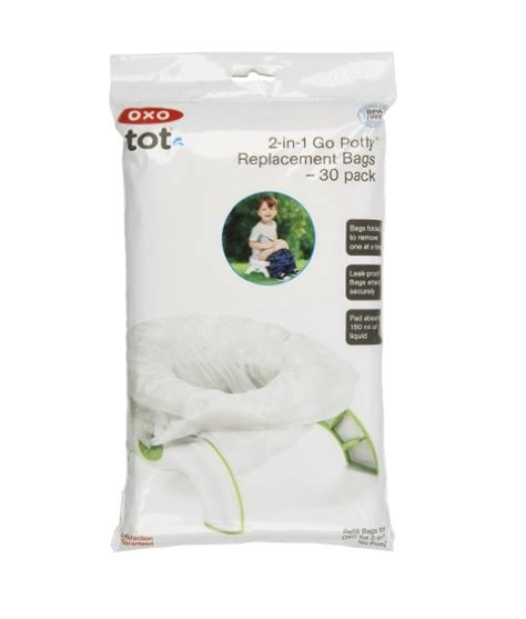 Promo Oxo Tot 2 In 1 Go Potty oxo tot 2 in 1 go potty refill bags 30 count theshopville baby store babies