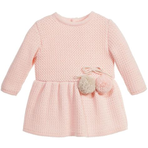 knitted dress baby mebi baby pink knitted dress childrensalon