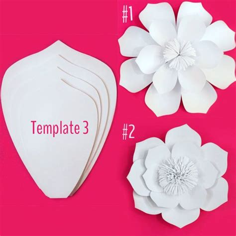 Paper Flowers Templates - paper flower template diy kit by paperposhevents1 on etsy