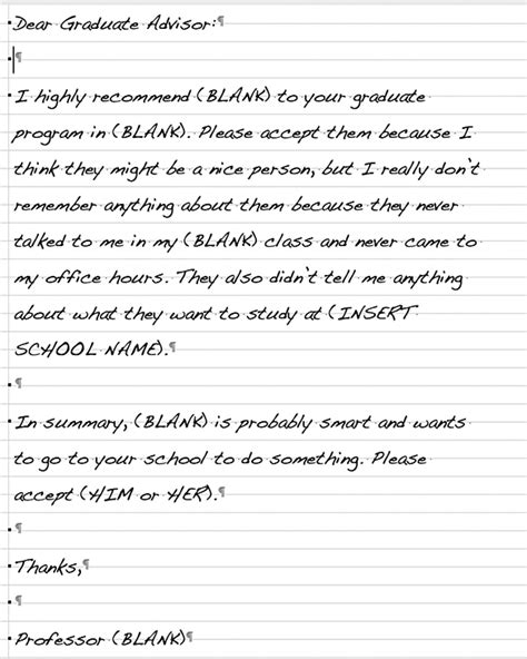 Letter Of Recommendation Weaknesses writing a letter of recommendation weakness list